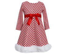 Jessica Anne Toddler Girls Long Sleeve Skater Dress, Red