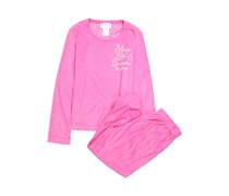 XOXO Girls Sleep Less & Dream More 2-Piece Pajamas Set, Pink