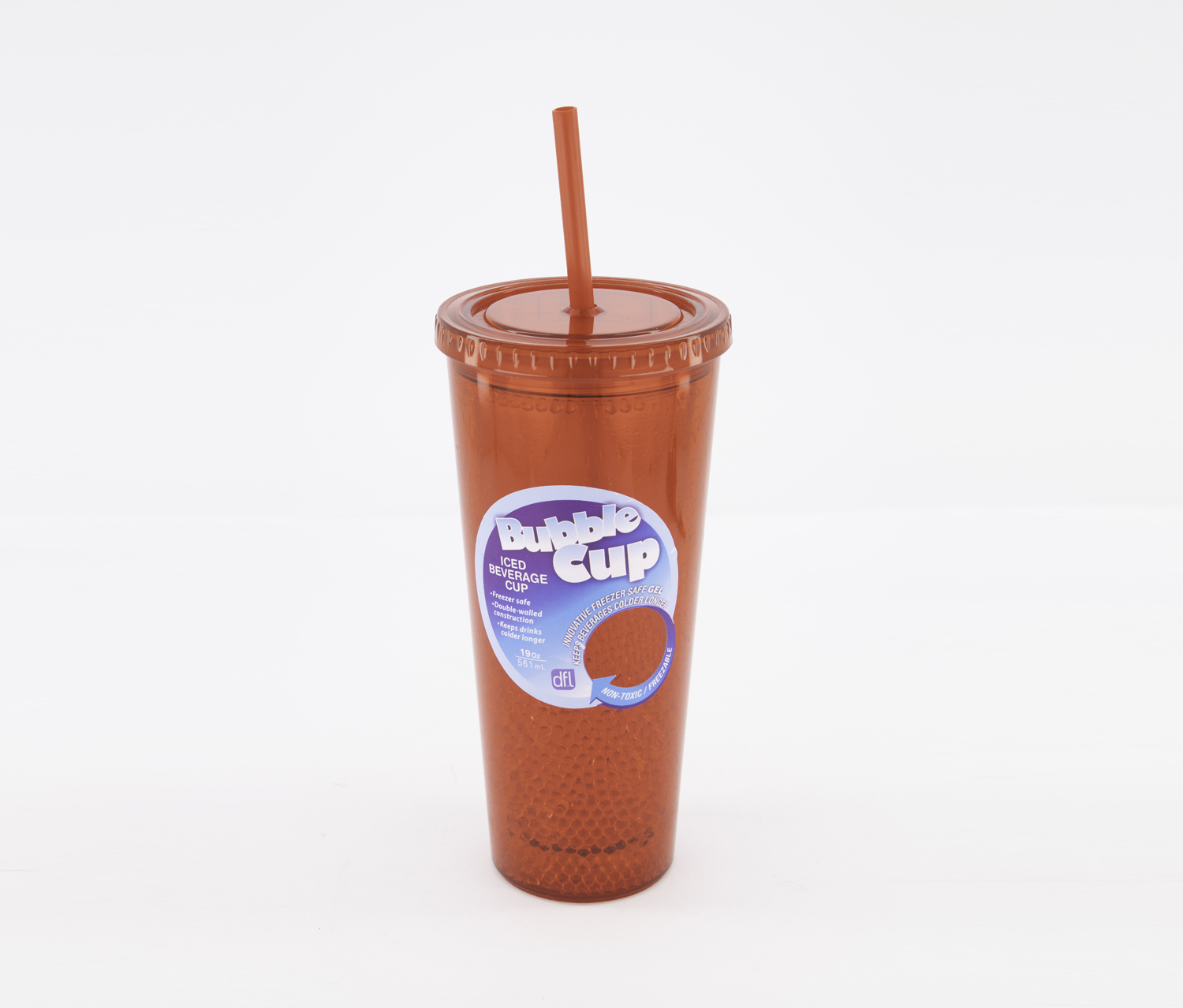 19 Oz Iced Beverage Bubble Cup, Red