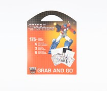 Grab & Go Stickers Transformers, Red
