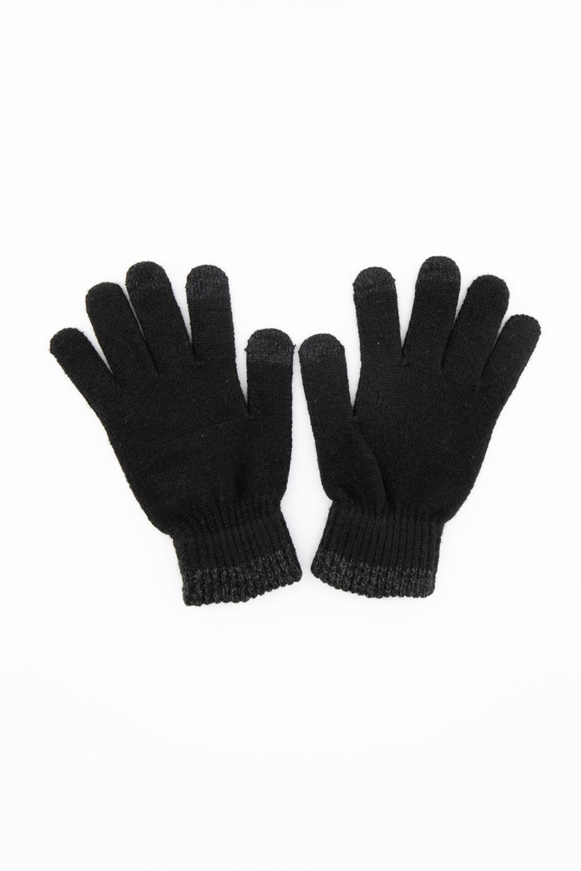 Mens Space-Dyed Gloves, Black