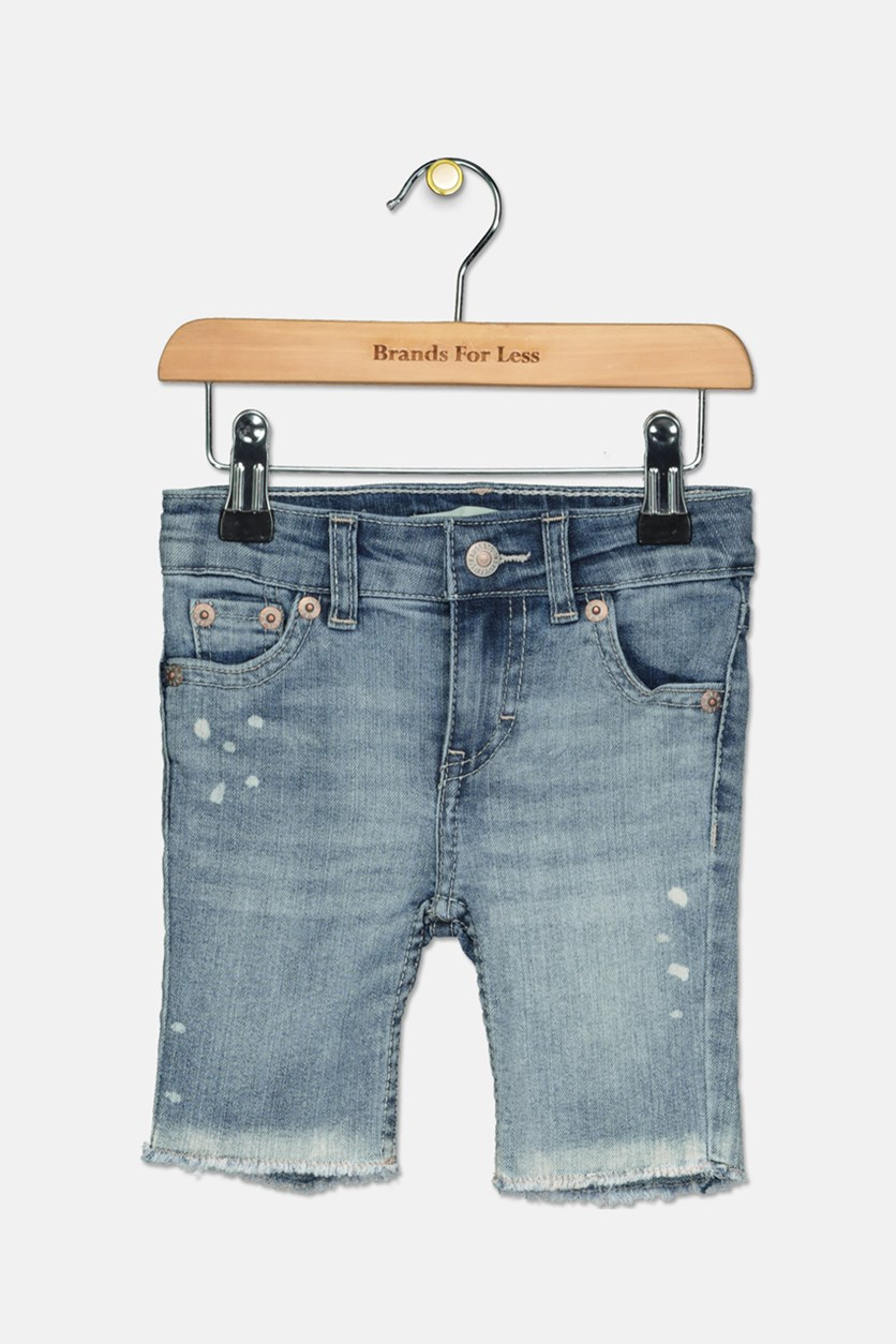 Toddler Girls' Denim Bermuda Shorts,  Vintage Water