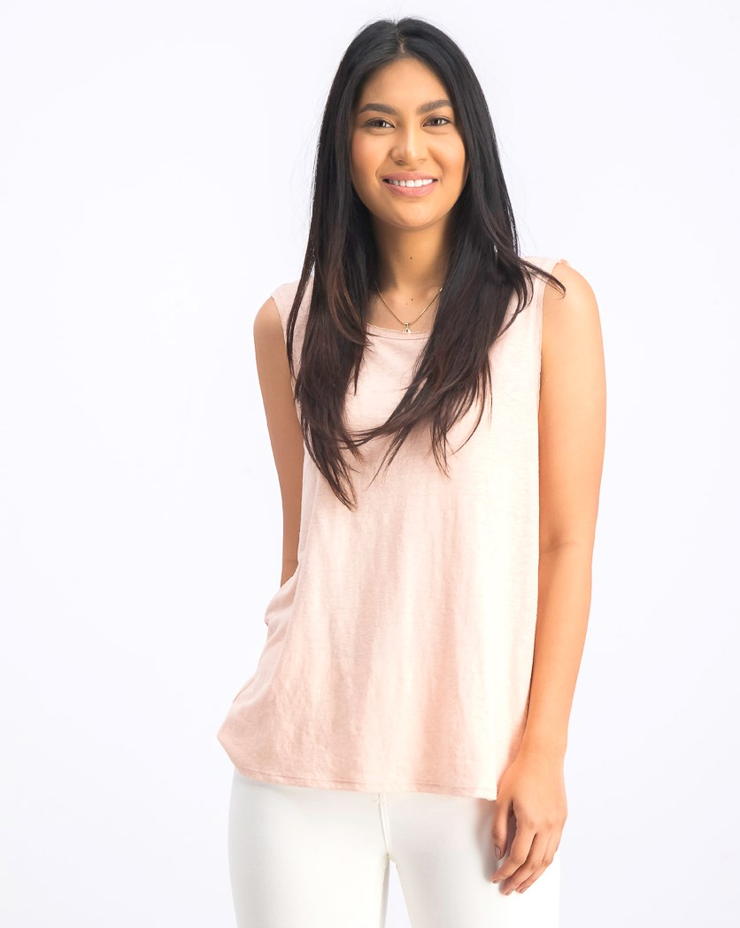 Women's Plain Pullover Top, Blush