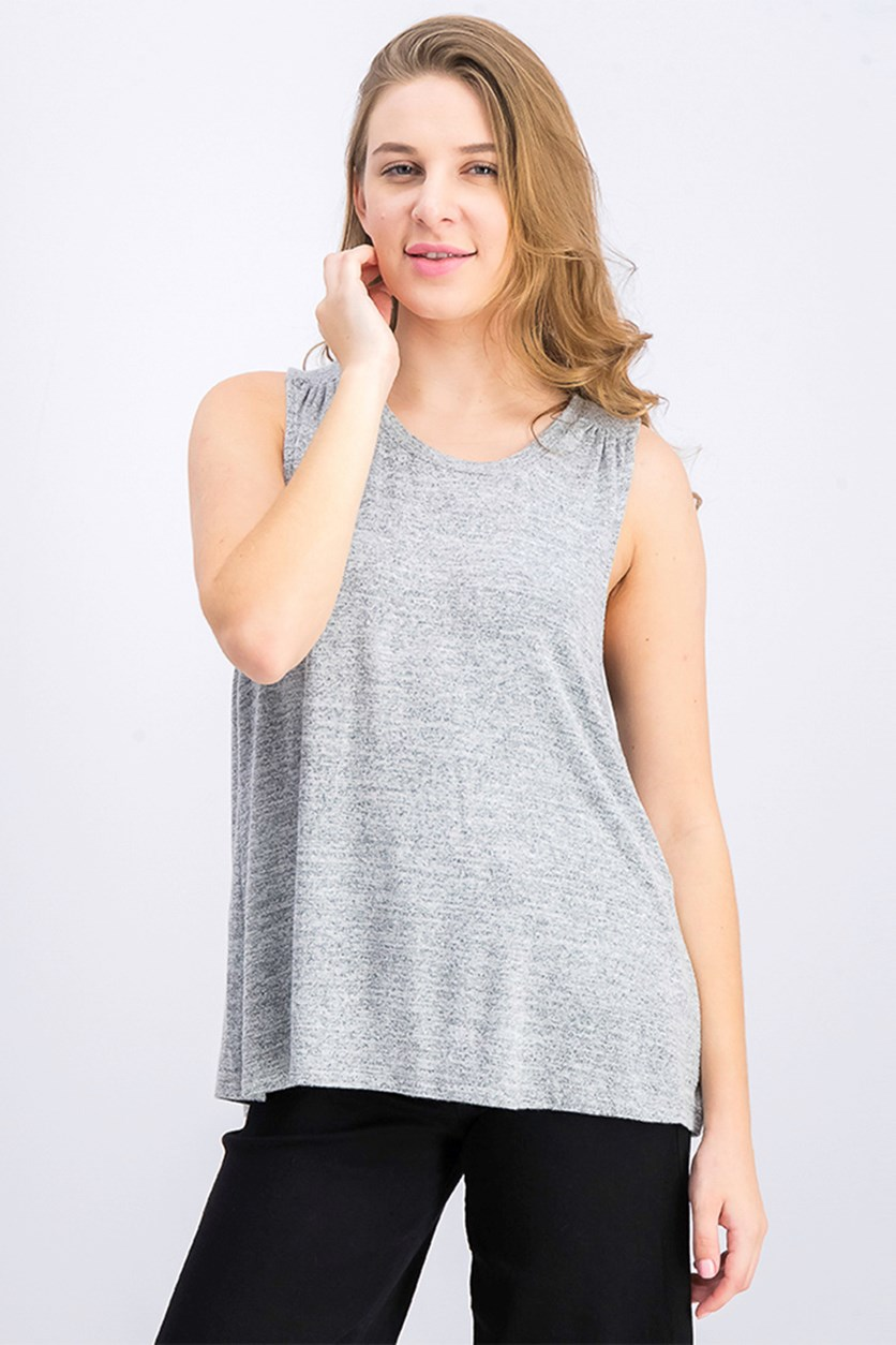 Women's Sleeveless Top Blouse, Grey