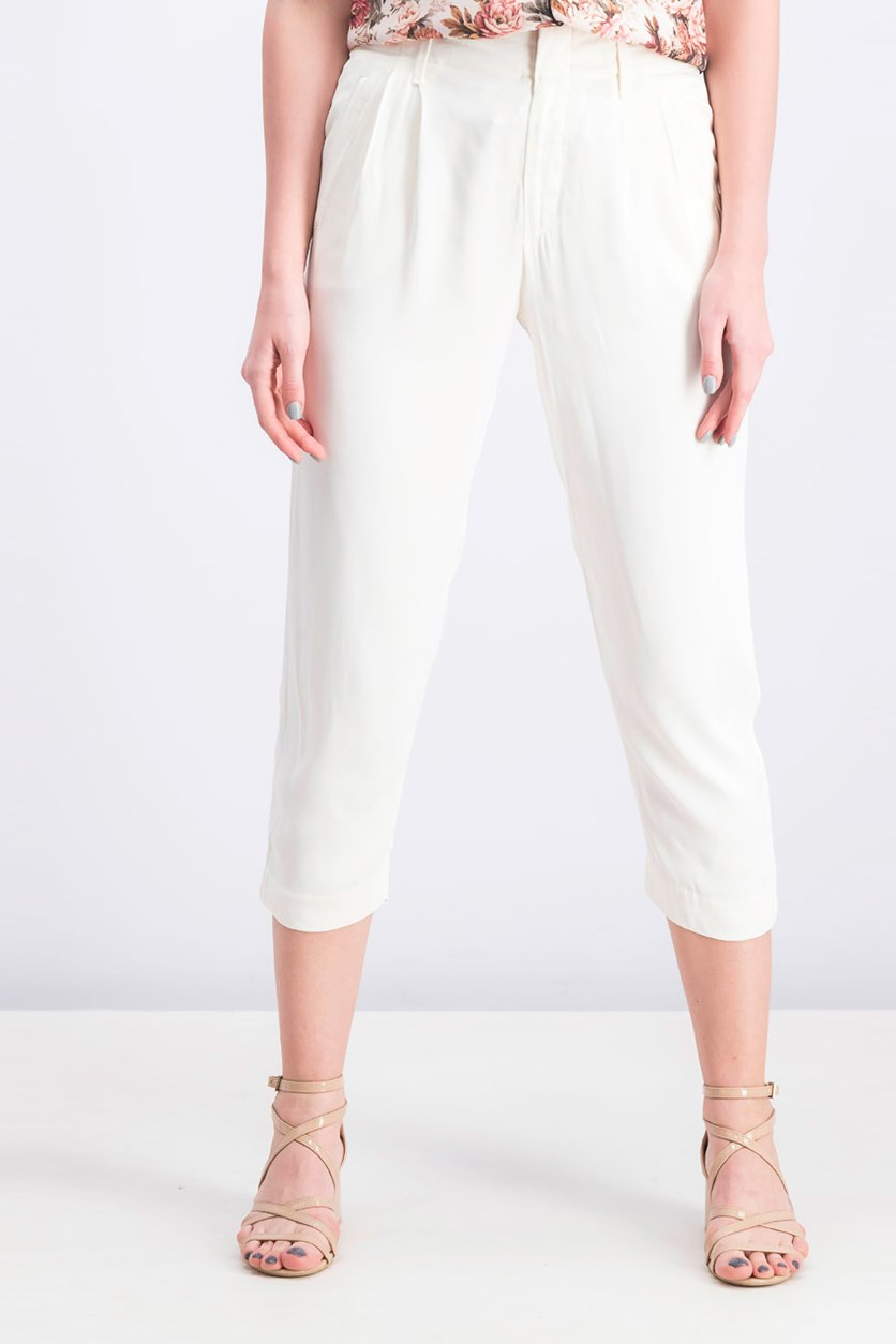 Women's Rayon Pants, Cream