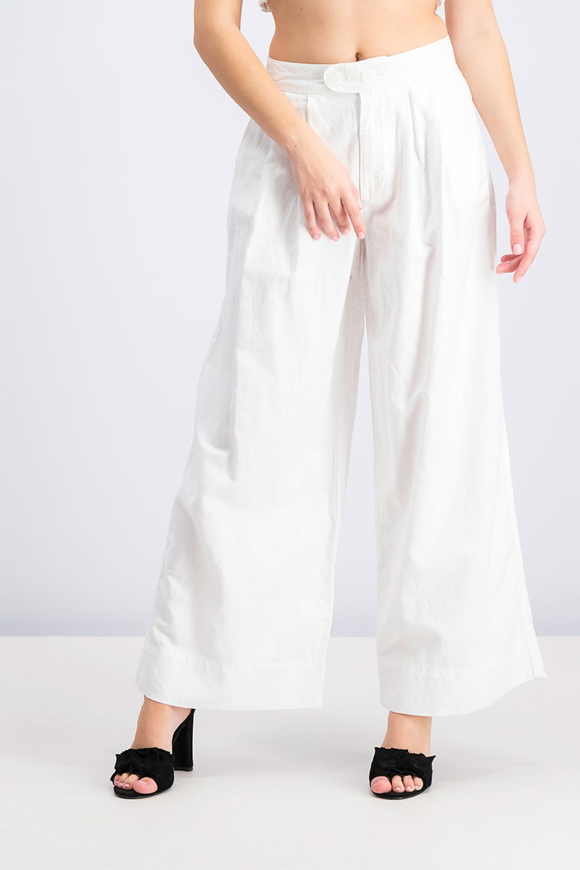 Women's Wide Leg Pants, White