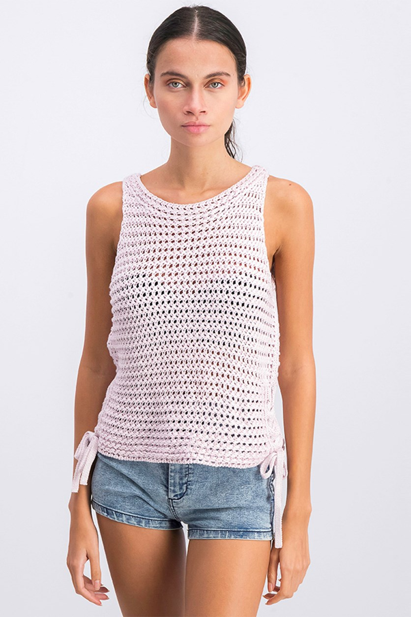 Women's Tricotosa Knit Top, Light Pink