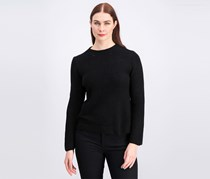 Women's Knitted Open Back Sweater, Black