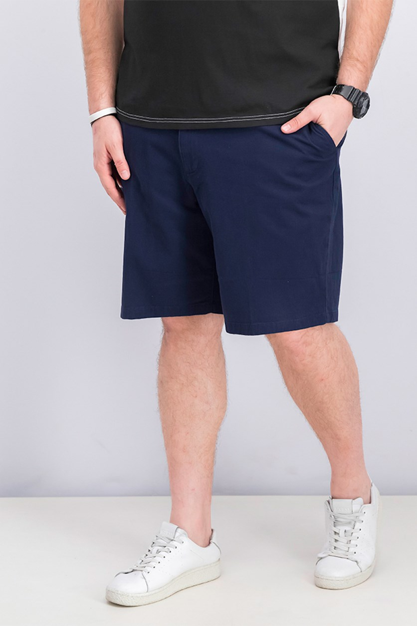 Men's Woven Chino Shorts, Navy