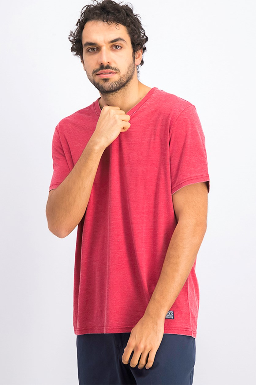 Men's Kinston Burnout Shirt, Red Scooter