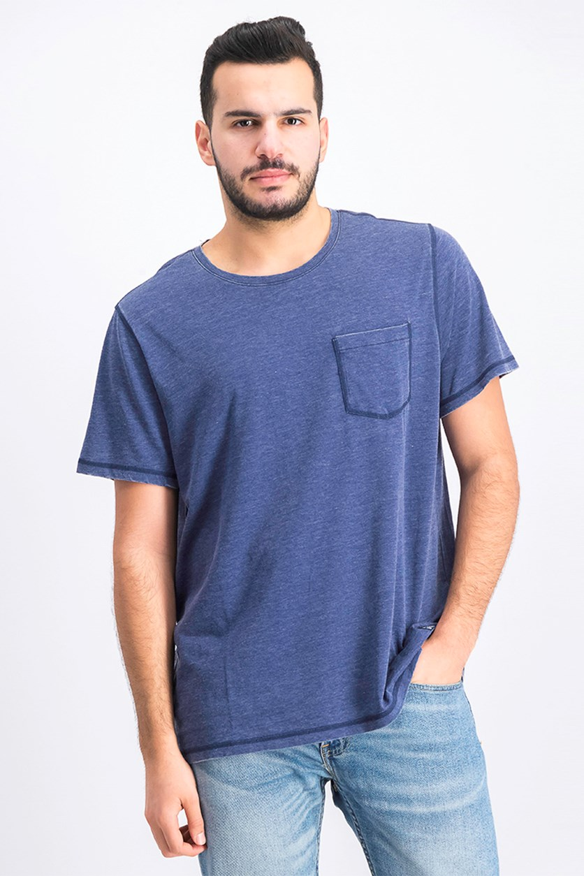 Men's Northfield Burnout Tee Shirt, Navy