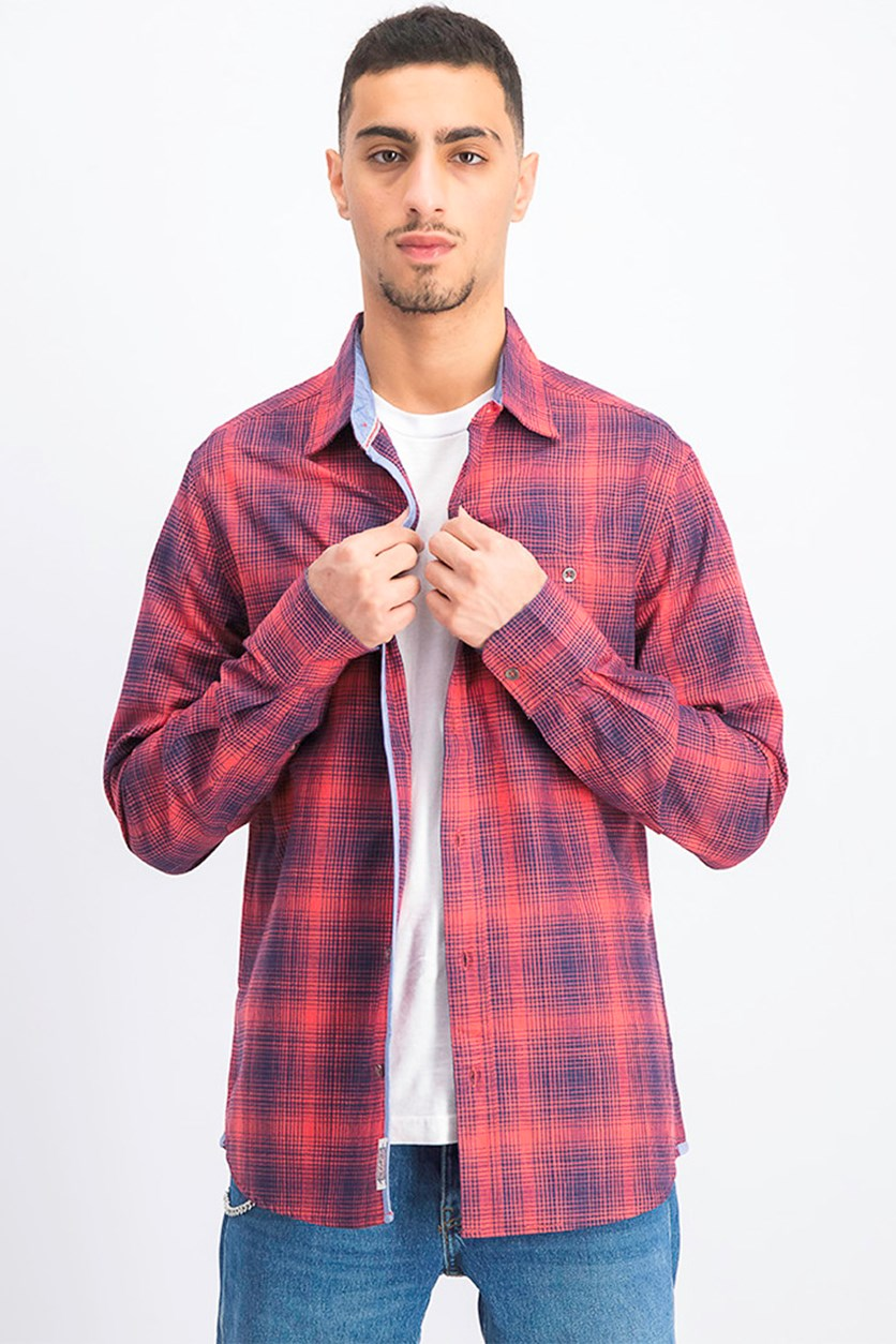 Men's Griffith Plaid Shirt, Red/Navy