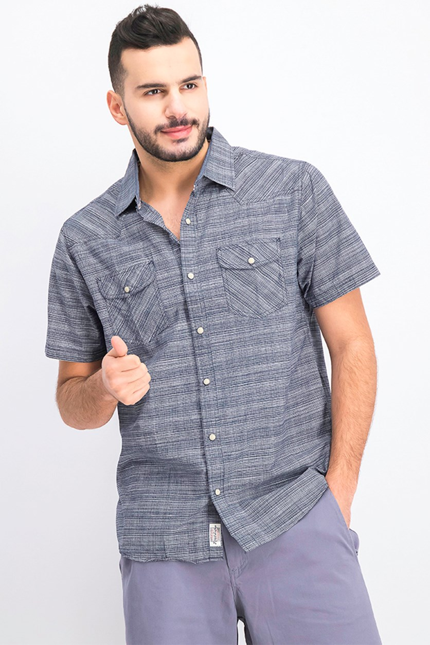 Men's Decker Short Sleeve Shirt, Navy
