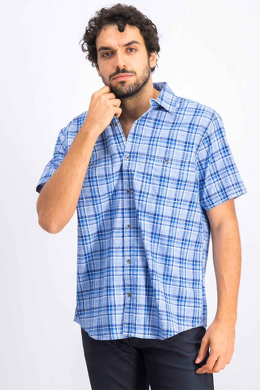 Men's Westland Shirt, Plaid Blue