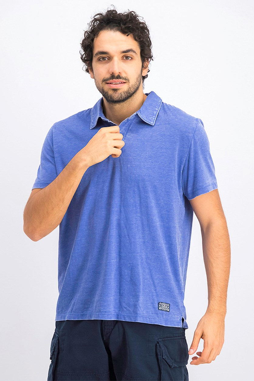 Men's Coupeville Burnout Polo, Blue Wash