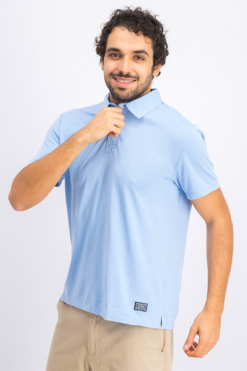 Men's  Coupeville Burnout Polo, Light Blue Wash