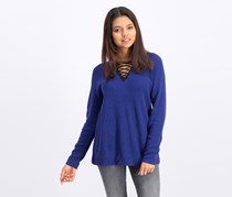Women Long Sleeve Sweater, Blue