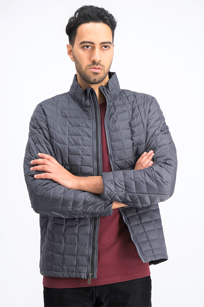 Men's Quilted Lightweight Puffer Jacket, Gray