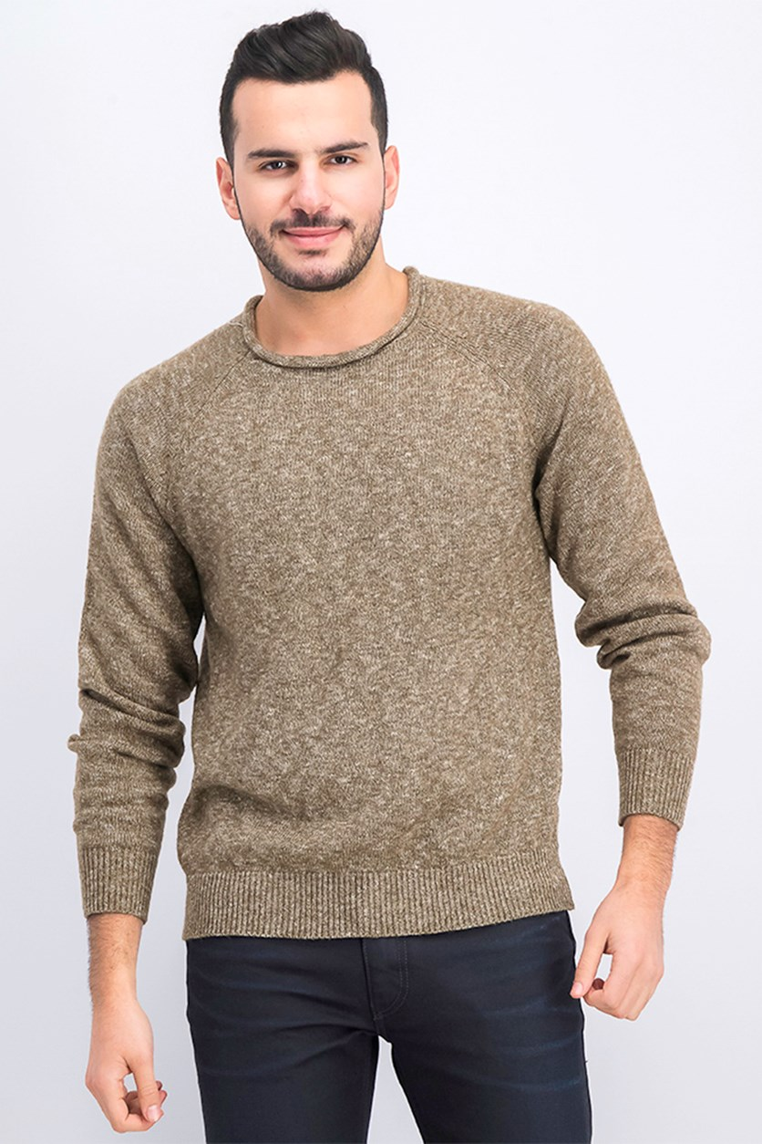Men's Roll Neck Sweater, Oatmeal