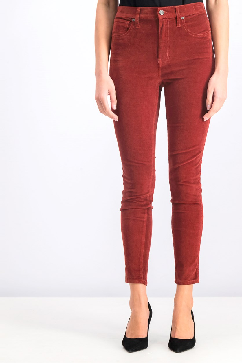 Women's Corduroy Pants, Rust