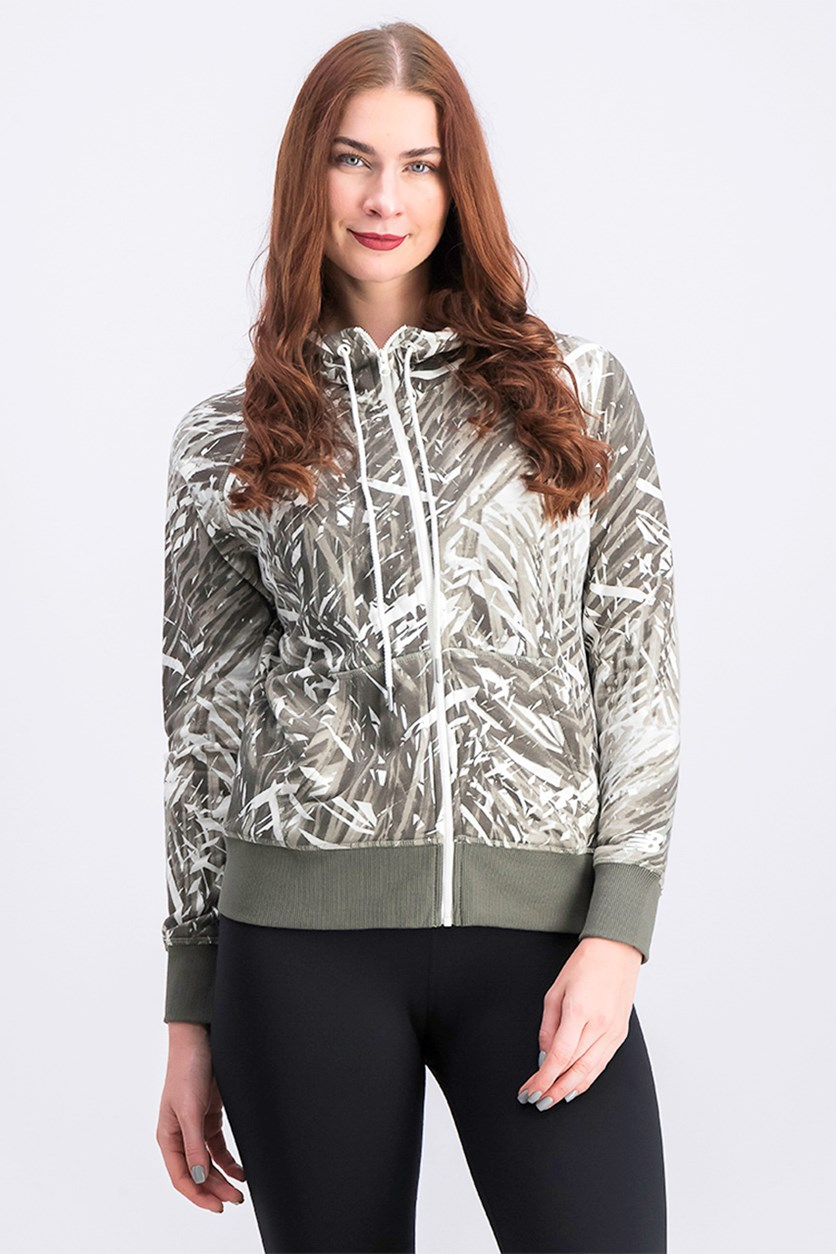 Women's Novelty Full Zip Jacket, Green