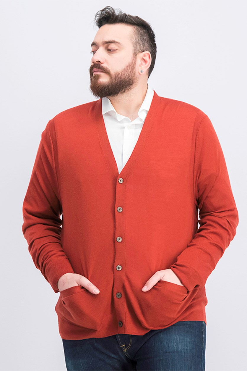 Mens Cardigan, Sienna Red