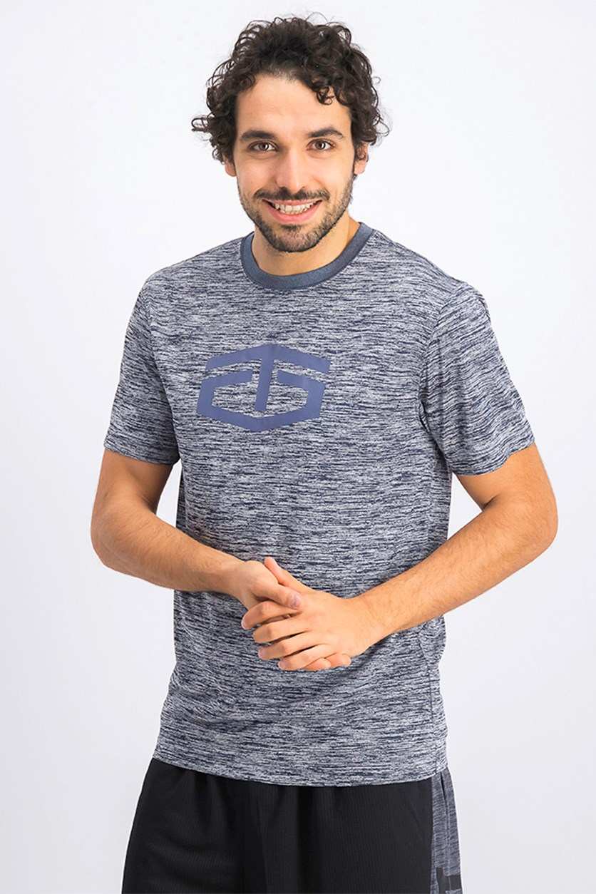 Men's Space Dye T-Shirt, Navy/Grey