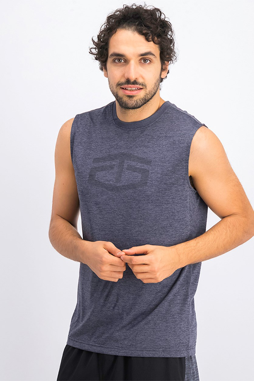 Men's Power Muscle Tank Vest, Grey Heather