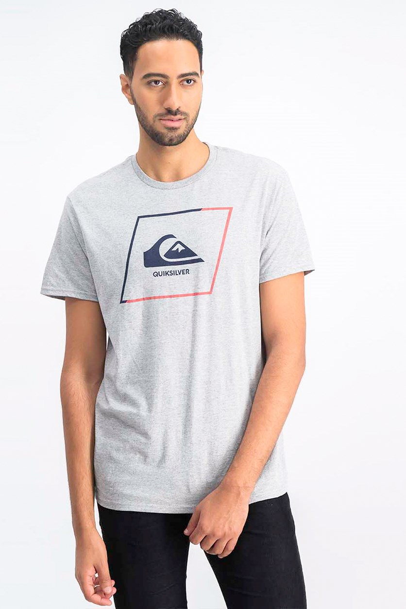 Men's Premium Fit New Square Logo T-Shirt, Grey