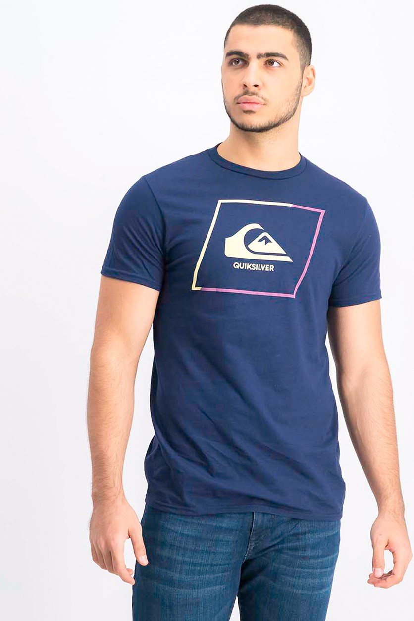 Men's Premium Fit Neew Square Logo T-Shirt, Navy