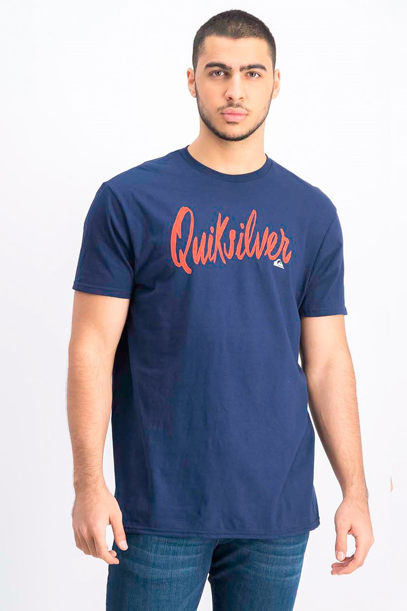 Men's Premium Fit Script T-Shirt, Navy