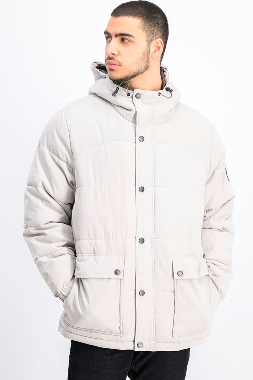 Men's Microfiber Puffer Jacket, Flint Grey