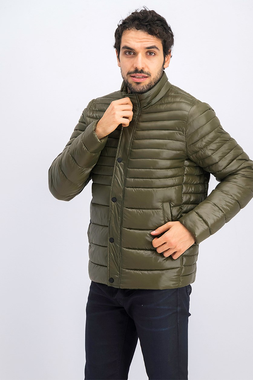 Men's Packable Quilted Jacket, Olive