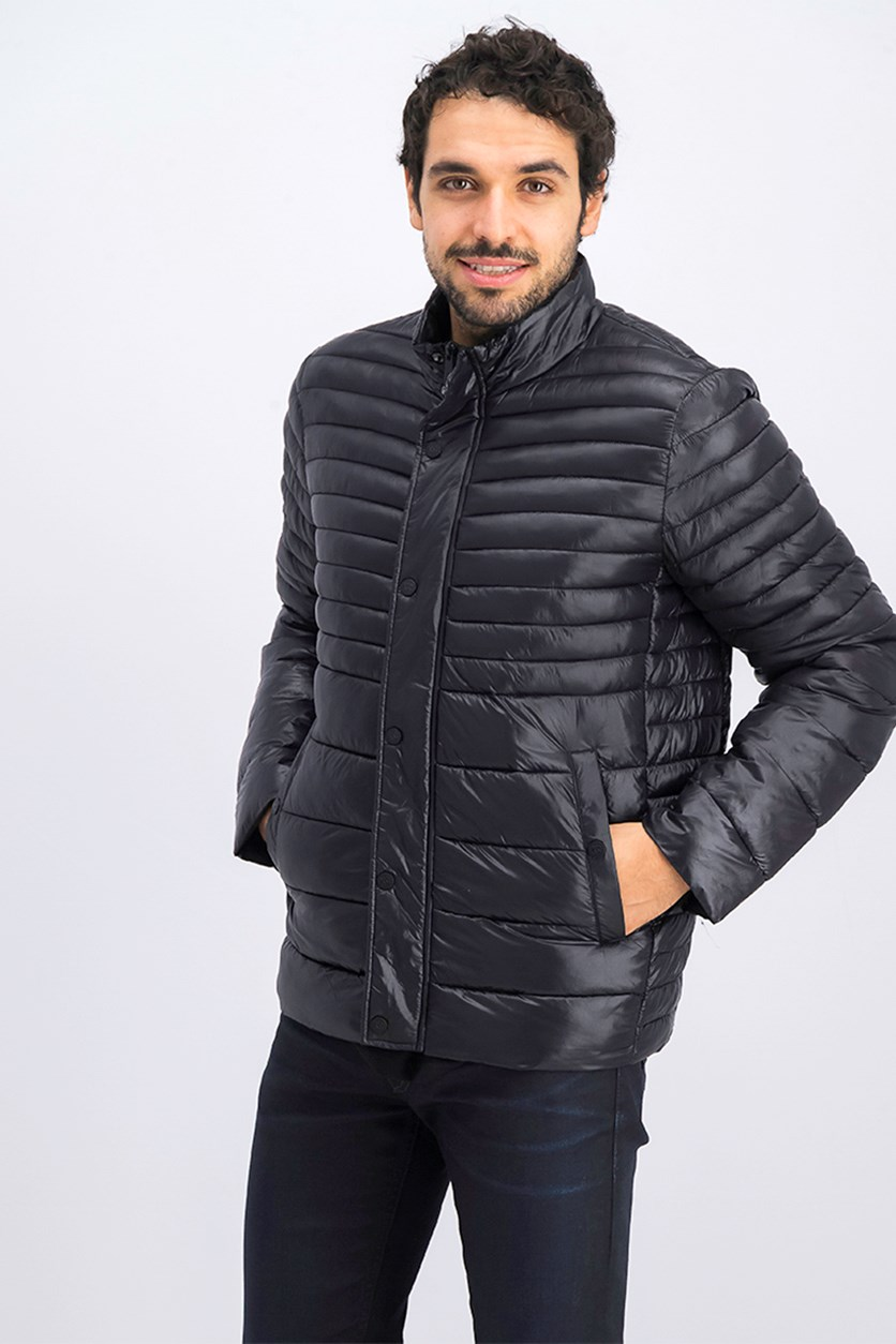 Men's Packable Quilted Jacket, Black