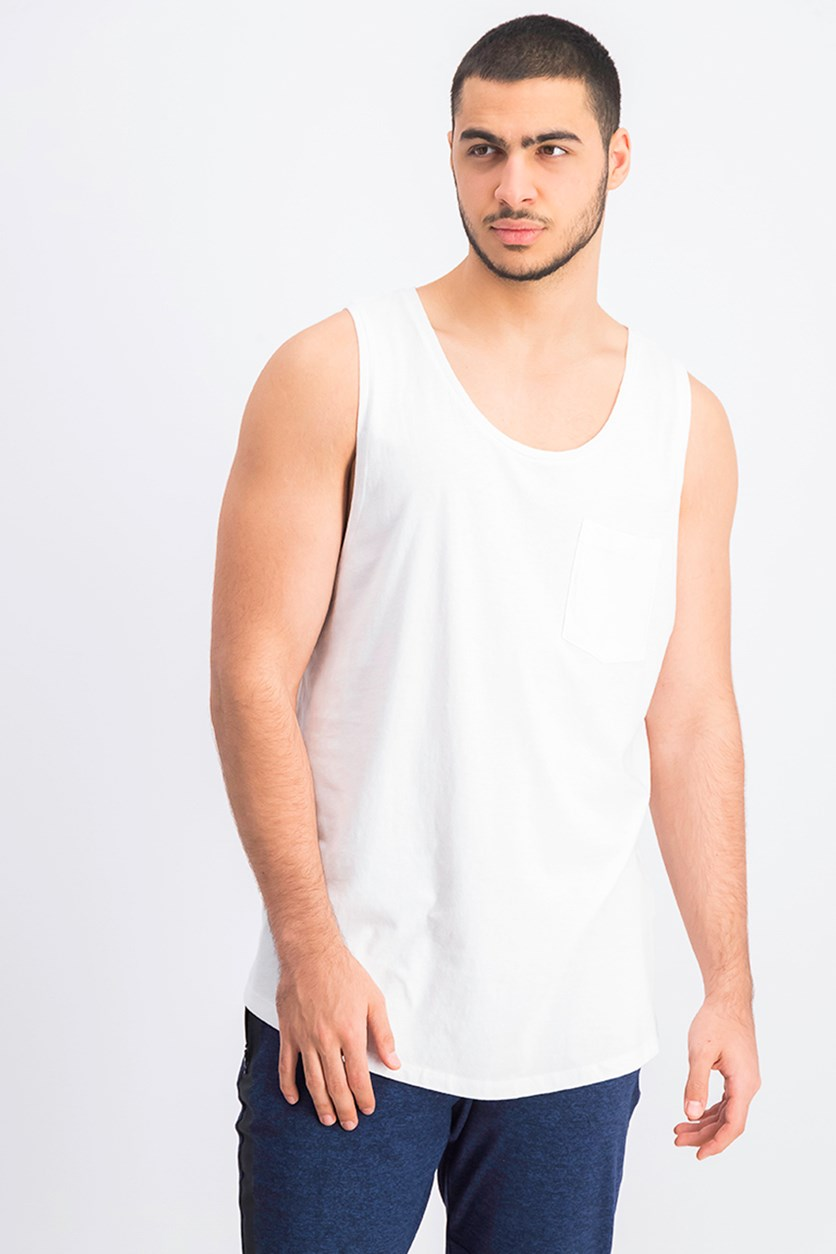 Men's Fit Tank Top, White