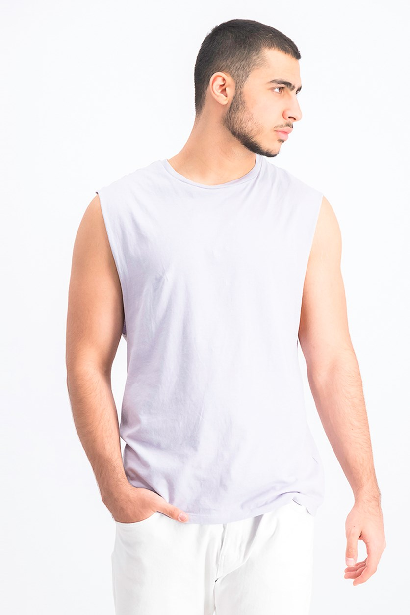Men's Plain Tank Top, Light Lavender