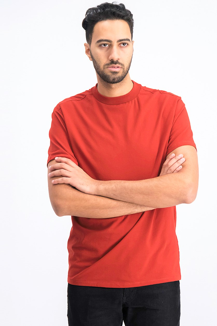 Men's Plain T-Shirts, Burnt Orange