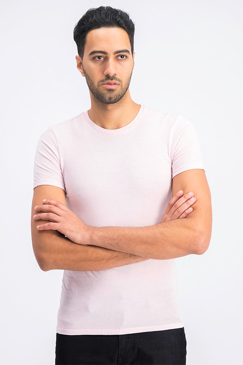 Men's Slim Fit T-Shirt, Light Pink
