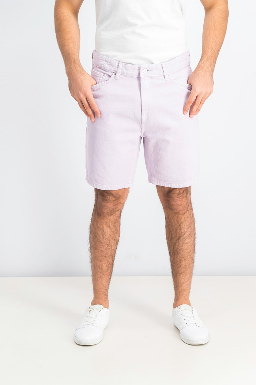 Mens Slim Fit Denim Short, Lavender
