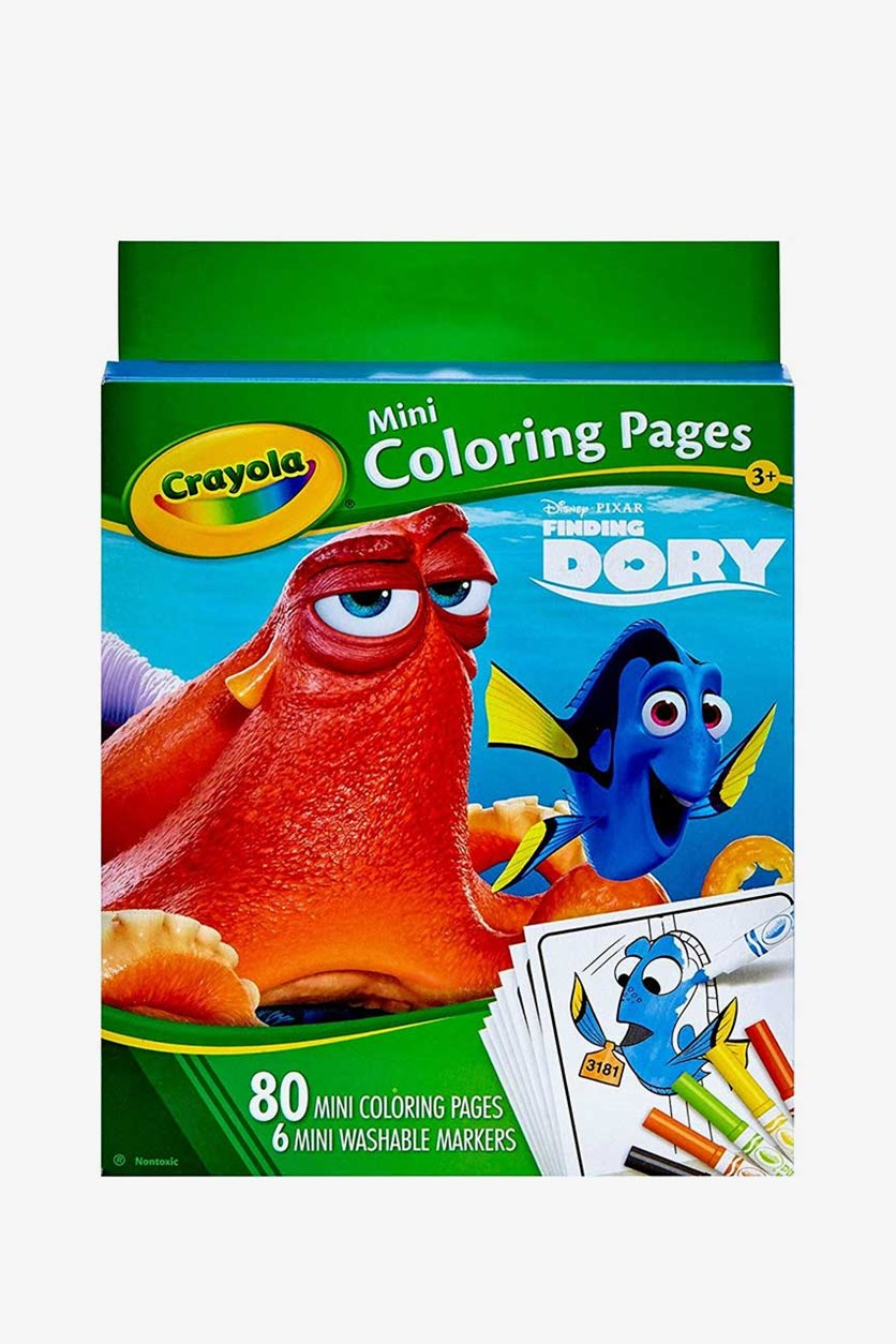Finding Dory Crayola Mini Coloring Pages, Green