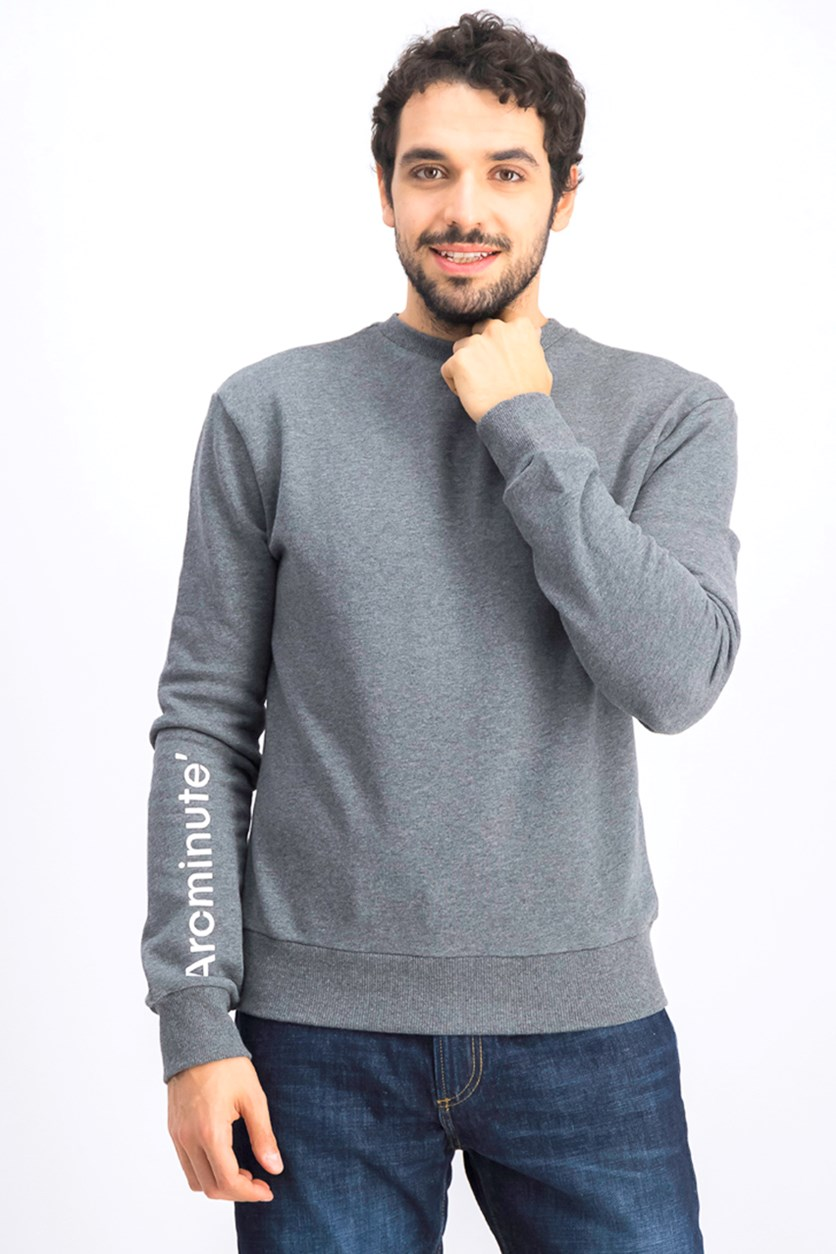 Men's Crew Neck Sweatshirt, Grey