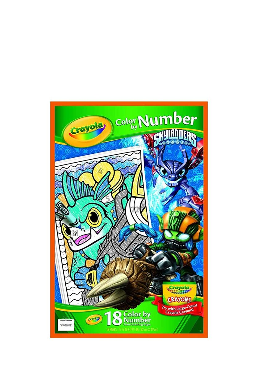 Crayola Giant Coloring Pages Skylanders Color by Number, Green Combo