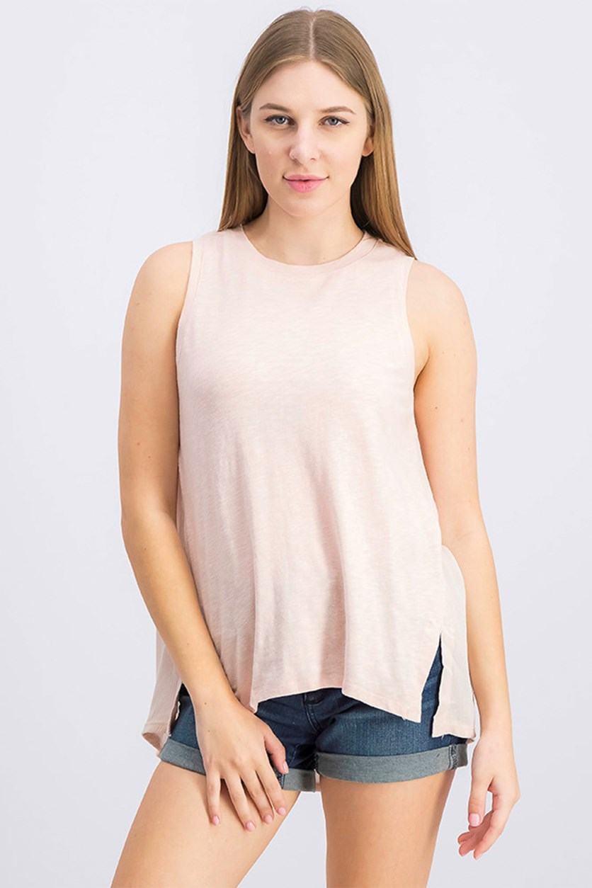 Women's Sleeveless Tank Top, Light Pink