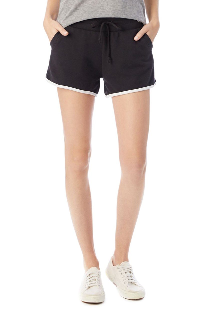 Women's Track Vintage French Terry Shorts, Black