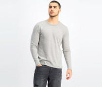 Mens Pullover Sweater, Grey Heather