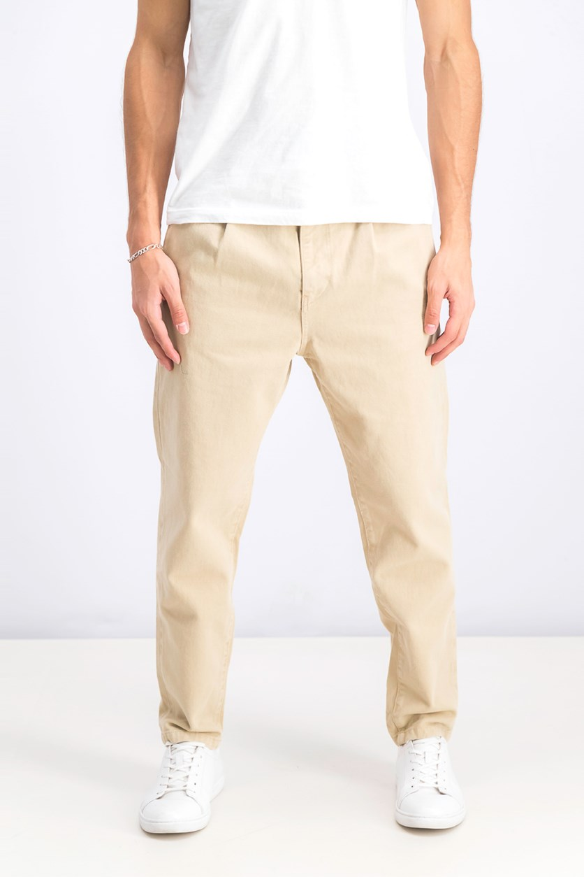 Loose Fit Chino Jeans, Beige