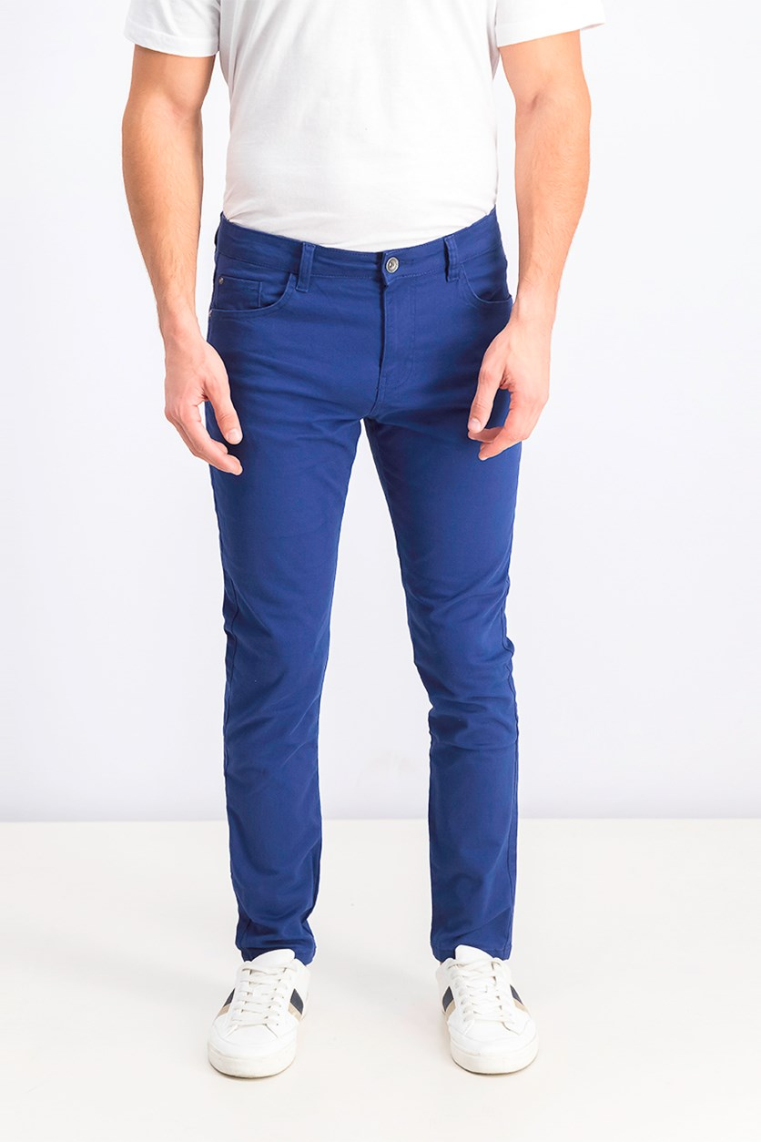 Men's Skinny Fit Pants, Blue