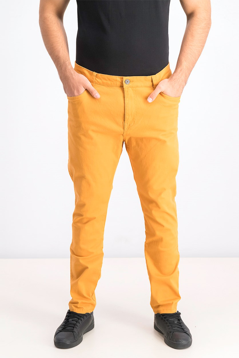 Men's Skinny Fit Pants, Caramel