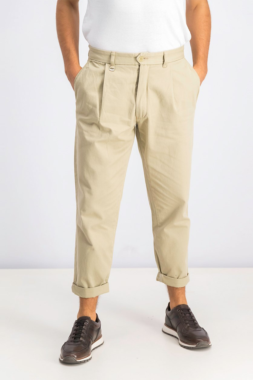 Men's Loose Fit Trousers, Beige/Khaki