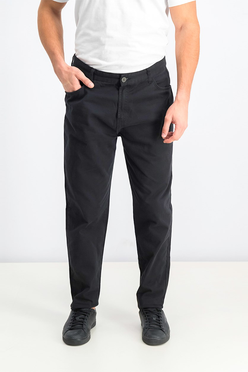 Men's Carrot Fit Pants, Black